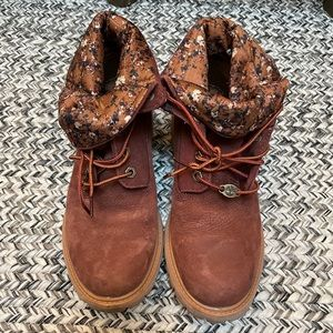 Timberlands authentic roll top boots